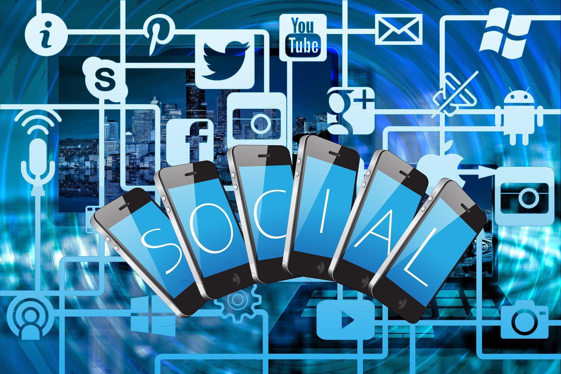 Sosiaalisen median eri merkkejä.